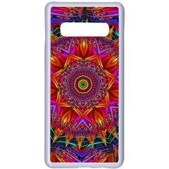 Kaleidoscope Pattern Ornament Samsung Galaxy S10 Plus Seamless Case(white) by Simbadda
