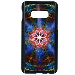 Mandala Pattern Kaleidoscope Samsung Galaxy S10e Seamless Case (black)