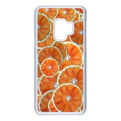 Oranges Background Texture Pattern Samsung Galaxy S9 Seamless Case(white) by Simbadda