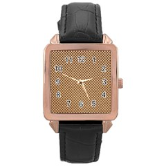 Paper Texture Background Rose Gold Leather Watch