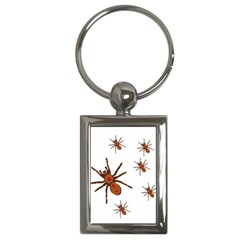 Insect Spider Wildlife Key Chain (rectangle) by Mariart