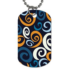 Colorful Curves Pattern Dog Tag (two Sides) by Vaneshart