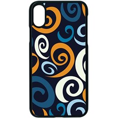 Colorful Curves Pattern Iphone X Seamless Case (black)