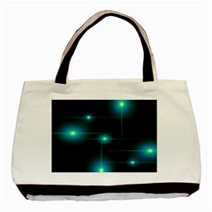 Light Shining Lighting Blue Night Basic Tote Bag