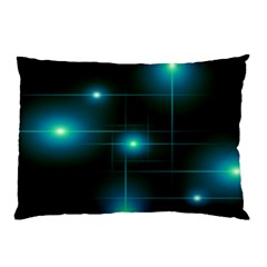 Light Shining Lighting Blue Night Pillow Case (two Sides)