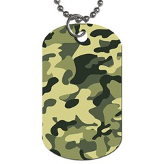 Army Camo Pattern Dog Tag (one Side)