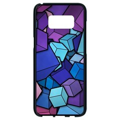 Geometric Pattern Samsung Galaxy S8 Black Seamless Case