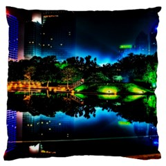 Night City Large Cushion Case (two Sides) by Vaneshart