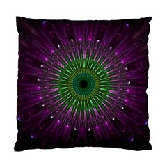 Light Abstract Flower Purple Petal Glass Color Circle Art Symmetry Digital Shape Fractal Macro Photo Standard Cushion Case (two Sides)