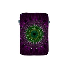 Light Abstract Flower Purple Petal Glass Color Circle Art Symmetry Digital Shape Fractal Macro Photo Apple Ipad Mini Protective Soft Cases