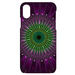 Light Abstract Flower Purple Petal Glass Color Circle Art Symmetry Digital Shape Fractal Macro Photo Iphone X/xs Black Uv Print Case by Vaneshart