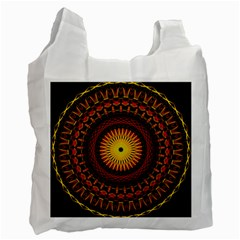 Spiral Pattern Circle Neon Psychedelic Illustration Design Symmetry Shape Mandala Recycle Bag (one Side) by Vaneshart