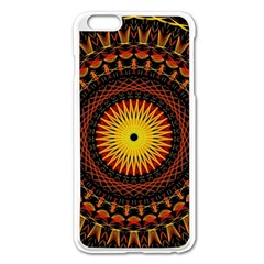 Spiral Pattern Circle Neon Psychedelic Illustration Design Symmetry Shape Mandala Iphone 6 Plus/6s Plus Enamel White Case by Vaneshart