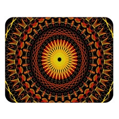 Spiral Pattern Circle Neon Psychedelic Illustration Design Symmetry Shape Mandala Double Sided Flano Blanket (large)  by Vaneshart