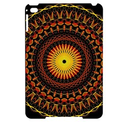 Spiral Pattern Circle Neon Psychedelic Illustration Design Symmetry Shape Mandala Apple Ipad Mini 4 Black Uv Print Case by Vaneshart