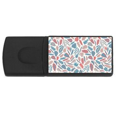 Leaves Art Pattern Rectangular Usb Flash Drive by Vaneshart
