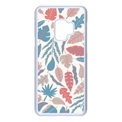 Leaves Art Pattern Samsung Galaxy S9 Seamless Case(white)