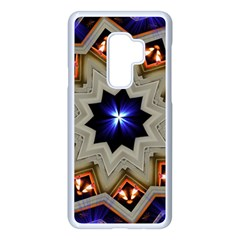 Light Abstract Structure Star Pattern Toy Circle Christmas Decoration Background Design Symmetry Samsung Galaxy S9 Plus Seamless Case(white) by Vaneshart