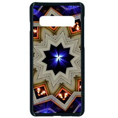 Light Abstract Structure Star Pattern Toy Circle Christmas Decoration Background Design Symmetry Samsung Galaxy S10 Seamless Case(black) by Vaneshart