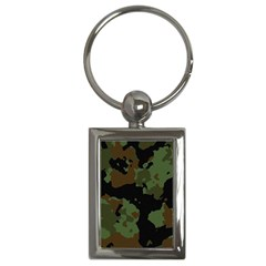 Beautiful Army Camo Pattern Key Chain (rectangle)