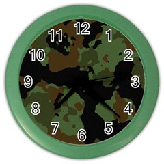 Beautiful Army Camo Pattern Color Wall Clock
