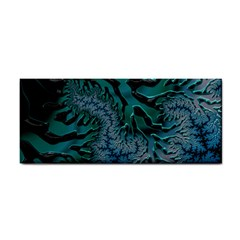 Creative Wing Abstract Texture River Stream Pattern Green Geometric Artistic Blue Art Aqua Turquoise Hand Towel