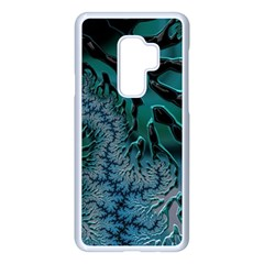 Creative Wing Abstract Texture River Stream Pattern Green Geometric Artistic Blue Art Aqua Turquoise Samsung Galaxy S9 Plus Seamless Case(white) by Vaneshart