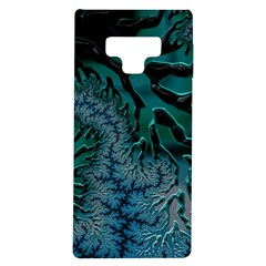 Creative Wing Abstract Texture River Stream Pattern Green Geometric Artistic Blue Art Aqua Turquoise Samsung Galaxy Note 9 Tpu Uv Case