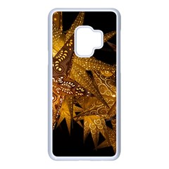 Star Decoration Christmas Christmas Decoration Symmetry Christmas Lights Fractal Art Luminous Stars Samsung Galaxy S9 Seamless Case(white)