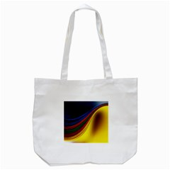 Abstract Spiral Wave Line Color Colorful Yellow Paper Still Life Circle Font Illustration Design Tote Bag (white) by Vaneshart