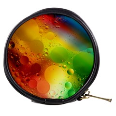 Abstract Sunlight Flower Reflection Color Macro Floating Yellow Circle Macro Photography Spheres Oil Mini Makeup Bag