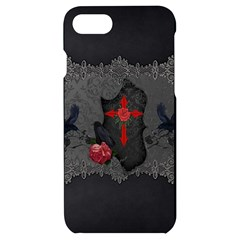 The Crows With Cross Iphone 7/8 Black Uv Print Case by FantasyWorld7