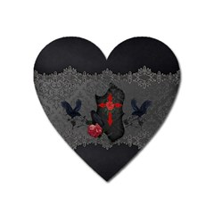 The Crows With Cross Heart Magnet by FantasyWorld7