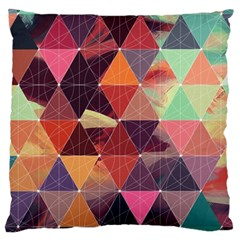 Geometric Pattern Art Large Cushion Case (two Sides) by Vaneshart
