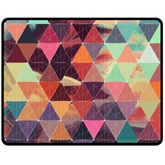 Geometric Pattern Art Double Sided Fleece Blanket (medium)