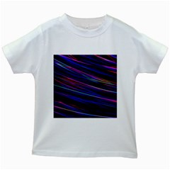 Nightlife Neon Techno Black Lamp Motion Green Street Dark Blurred Move Abstract Velocity Evening Tim Kids White T-shirts