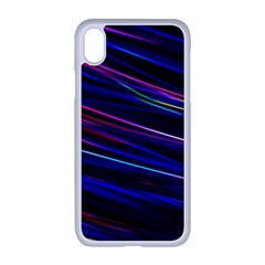 Nightlife Neon Techno Black Lamp Motion Green Street Dark Blurred Move Abstract Velocity Evening Tim Iphone Xr Seamless Case (white)