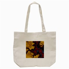 Creative Abstract Structure Texture Flower Pattern Black Material Textile Art Colors Design  Tote Bag (cream)