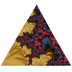 Creative Abstract Structure Texture Flower Pattern Black Material Textile Art Colors Design  Wooden Puzzle Triangle