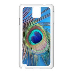 Nature Bird Wing Texture Animal Male Wildlife Decoration Pattern Line Green Color Blue Colorful Samsung Galaxy Note 3 N9005 Case (white) by Vaneshart