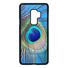 Nature Bird Wing Texture Animal Male Wildlife Decoration Pattern Line Green Color Blue Colorful Samsung Galaxy S9 Plus Seamless Case(black) by Vaneshart