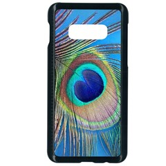 Nature Bird Wing Texture Animal Male Wildlife Decoration Pattern Line Green Color Blue Colorful Samsung Galaxy S10e Seamless Case (black)