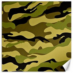 Fabric Army Camo Pattern Canvas 12  X 12