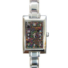 Awesome Abstract Pattern Rectangle Italian Charm Watch