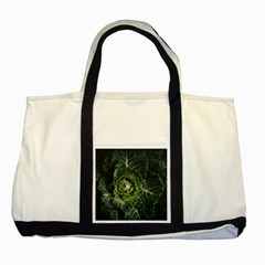 Plant Leaf Flower Green Produce Vegetable Botany Flora Cabbage Macro Photography Flowering Plant Two Tone Tote Bag by Vaneshart