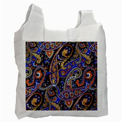Vintage Retro Texture Decoration Pattern Color Circle Ornament Art Design Bright Symmetry Style  Recycle Bag (one Side) by Vaneshart