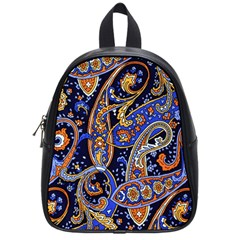 Vintage Retro Texture Decoration Pattern Color Circle Ornament Art Design Bright Symmetry Style  School Bag (small) by Vaneshart