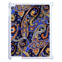 Vintage Retro Texture Decoration Pattern Color Circle Ornament Art Design Bright Symmetry Style  Apple Ipad 2 Case (white) by Vaneshart