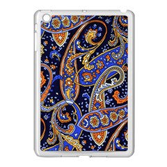 Vintage Retro Texture Decoration Pattern Color Circle Ornament Art Design Bright Symmetry Style  Apple Ipad Mini Case (white) by Vaneshart