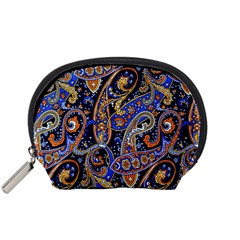 Vintage Retro Texture Decoration Pattern Color Circle Ornament Art Design Bright Symmetry Style  Accessory Pouch (small) by Vaneshart